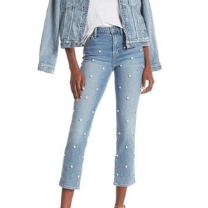 7 For All Mankind Edie High Waist Cropped Jeans
